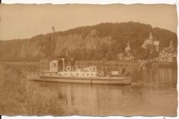 """Photographie Ancienne Bateau à Vapeur """"Vadrouille"""" Sur Le Rhin - Fotos"""