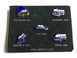 Série 5 Pin's RENAULT Tirage Limité POLICE GENDARMERIE - Police