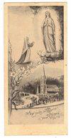 AUX PIEDS DE MARIE J'AI PRIE POUR VOUS  IMAGE PIEUSE RELIGIEUSE HOLY CARD SANTINI HEILIG PRENTJE - Andachtsbilder