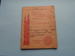 LANDSBOND Der CHRISTELIJKE MUTUALITEITEN Leuven > Lidboekje () Anno 1965 - 71 ( Zie / See / Voir Photo ) ! - Belgique