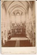 Photographie Ancienne XIXe Intérieur D'une église Ou Cathédrale Photographe Cardinal à Vannes Morbihan - Ancianas (antes De 1900)