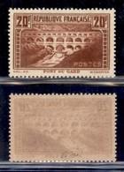 FRANCIA - 1931 - 20 Franchi Pont Du Gard (242 C) - Dentellato 13 - Gomma Integra (500) - Francobolli