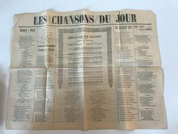 Journal «LES CHANSONS Du JOUR» - Partitions Musicales Anciennes