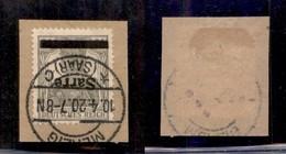 GERMANIA - Saar - 1920 - 2 1/2 Pfennig (2aIk) Con Soprastampa Capovolta - Usato Su Frammento - Francobolli