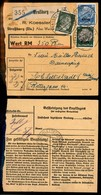GERMANIA - Occ. Tedesca/Alsazia - Mista - 20 + 50 Pfennig (Unif. 16 + 20) + 5 Pfennig (708 Reich) - Cedolino Pacchi - St - Francobolli