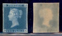 GRAN BRETAGNA - Regno - 1841 - 2 Pence (3c - Ivory Head) - Gomma Originale (vetrificata) - Cert AG - Francobolli