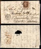 GRAN BRETAGNA - Lettera Da Roma Del 7.3.1842 Per Londra (affrancata In Transito Con 1 Penny) Fatta Proseguire Per Devon - Francobolli