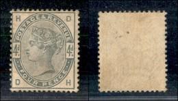 GRAN BRETAGNA - 1884 - 4 Pence Queen Victoria (77) - Gomma Originale (450) - Francobolli