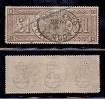 GRAN BRETAGNA - 1888 - 1 Sterlina Vittoria (98) - Usato (2.400) - Francobolli