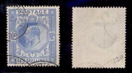GRAN BRETAGNA - 1902 - 10 Shilling Edoardo VII (117A) - Usato (280) - Francobolli
