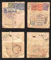 GRAN BRETAGNA - 1924/1925 - Perfin - Due Bustine A Sacco (con Denaro) Assicurate Da Liverpool A Venezia - Difetti - Da E - Francobolli