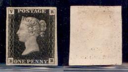 GRAN BRETAGNA - Regno - 1840 - 1 Penny VR (V1 - Servizio) - Nuovo Senza Gomma - Splendido - Cert AG - Francobolli
