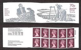 "GRAN BRETAGNA - 1978 - 70p Folded Booklet ""Dry - Stone - Walling"" (FD4A) - Left Hand Margin - Nuovi - Francobolli"