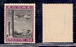 GRECIA - 1940 - 100 Dracme Posta Aerea (446) - Gomma Integra (180) - Francobolli