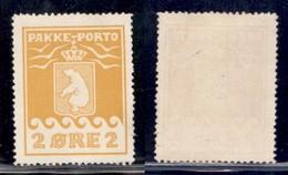 GROENLANDIA - 1915 - 2 Ore Pacchi Postali (5A) - Gomma Integra (1300) - Francobolli