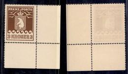 GROENLANDIA - 1930 - 3 Kronen Pacchi Postali (12A) - Gomma Integra Angolo Di Foglio (200+) - Francobolli