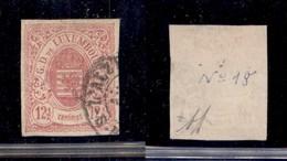 LUSSEMBURGO - 1859 - 12 1/2 Cent Stemma (7) - Usato - Francobolli