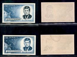 MONACO - 1964 - Prove - 50 Cent Kennedy (789) - Due Pezzi Non Dentellati Di Colori Diversi - Gomma Integra - Francobolli