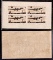 RUSSIA - 1937 - Foglietti - Giubileo Dell'Aviazione (Unif. BF3) - Carta Crema - Gomma Integra - Non Fresca - Francobolli