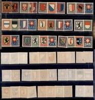 SVIZZERA - 1918/1926 - Pro Juventute (I/IX) - Le 9 Emissioni Del Periodo - Gomma Integra E Originale (190+) - Francobolli