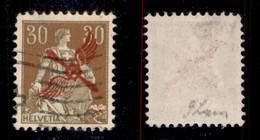 SVIZZERA - 1920 - 30 Cent Helvetia (152) - Usato (1.400) - Francobolli