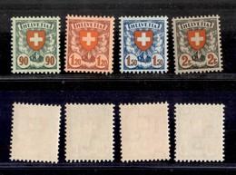 SVIZZERA - 1933/1934 - Croce E Scudo (Unificato 208/211) - Serie Completa - Gomma Integra - Francobolli