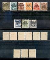 SVIZZERA - 1937 - Bureau International Du Travail (105A/113A) - Serie Completa - Gomma Originale - Piccoli Ingiallimenti - Francobolli