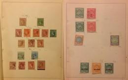 ANTIGUA - 1863/1946 - 37 Valori Del Periodo Su Quattro Fogli D'album - Francobolli