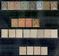 MARTINICA - 1892 - Soprastampati (26/37) - 12 Valori - Gomma Integra (530) - Francobolli