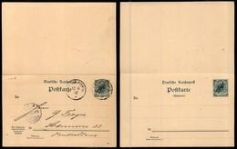 TOGO - Cartolina Postale 5 Pfennig Con Risposta Da Kleinpopo A Hannover Del 12.11.00 - Francobolli