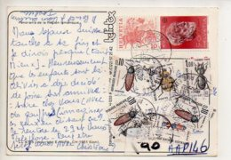 REF 381 : CPSM Région Lémanique Panorama Voir Verso Timbres Taxes - Switzerland