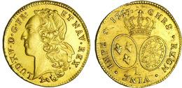Double Louis D'or - 1757 Environ 16 Grammes - 987-1789 Monnaies Royales
