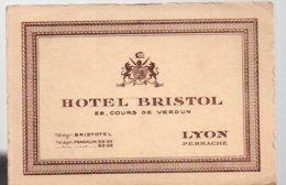 REF 373 : Carte De Visite Hotel Bristol Lyon Perrache - Cartes De Visite