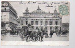 REF 365 : CPA 75 PARIS Opéra Beau Plan D'attelage Fiacre - Taxi & Carrozzelle