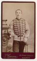 """Photographie Ancienne CDV Circa 1880 Portrait D'un Officier Militaire """"D'HAMONVILLE"""" Photographe Caron Nancy - Photographs"""