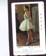 Télécarte Japon  * PEINTURE FRANCE * ART  (2260) FEMME  * Japan * Phonecard * KUNST TELEFONKARTE - Schilderijen