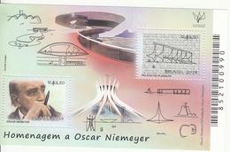2014 Brazil Brasil Niemeyer Architecture  Miniature Sheet Of 2 MNH - Brazilië