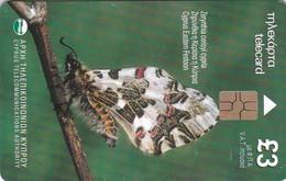 Cyprus, 0801CY, Cyprus Animals, Zerynthia Cerisyi Cypria, Butterfly, 2 Scans. - Cyprus