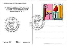ITALIA - 2000 SORAGNA (PR) 23^ Mostra Artigianato Agricoltura Commercio (simbolo EURO) Su Cartolina Speciale - Europa-CEPT