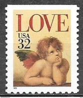 1995 32 Cents Love, Booklet Single, Mint Never Hinged - United States