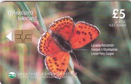 Cyprus, 1101CY, Lycaena Thersamon, Butterfly, 2 Scans. - Cyprus