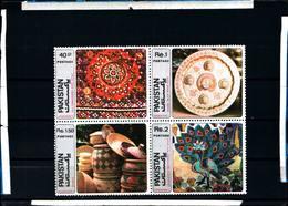 6476B)  Pakistan 491-494 Quartina SEIE COMPLETA -1979 Arte-MNH** - Pakistan
