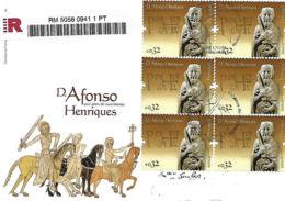 """Portugal 2009 FDC Registado """"900 Anos Nascimento D. Afonso Henriques"""" - FDC"""