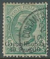1909-11 LEVANTE COSTANTINOPOLI USATO EFFIGIE 10 PA SU 5 CENT - RA14-8 - 11. Foreign Offices