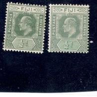FIJI1904:Michel 47a&b Mh* Cat.Value $34 - Fiji (...-1970)