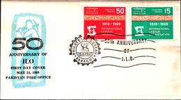 6478B)  Pakistan FDC 1969 Organizzazione Internazionale Del Lavoro - Pakistan