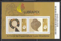 2016 Brazil Brasil Lubrapex Handicrafts Culture  Miniature Sheet  Of 2 MNH - Brazilië
