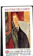 Télécarte Japon  * PEINTURE FRANCE * ART  (2271) Modigliani * Japan * Phonecard * KUNST TELEFONKARTE - Schilderijen