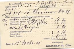 """214 - 27 -  Entier Postal UPU Privé """"Danzas & Cie"""" 1900 - Entiers Postaux"""