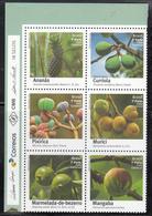 2016 Brazil Brasil Fruits Trees  Complete Block Of 6 MNH - Brazilië